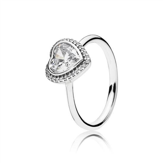 Pandora Sparkling Love Heart Ring Clear Cz 190929cz Pandora Charms Sale Clearance Pandora