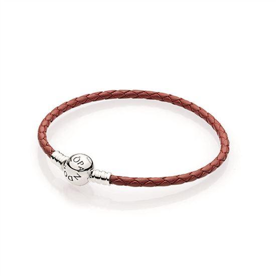 Pandora Red Braided Leather Charm Bracelet 590745crd S Pandora Charms Pandora Sale